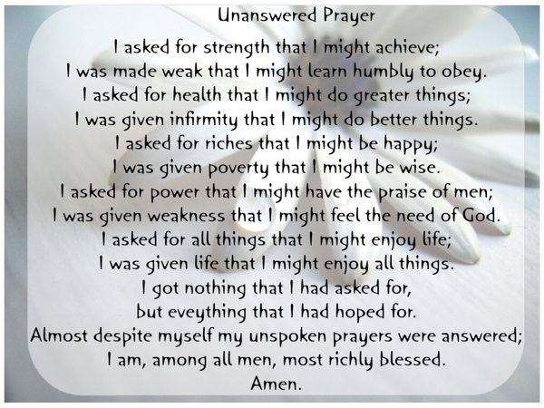 Unanswered-prayer
